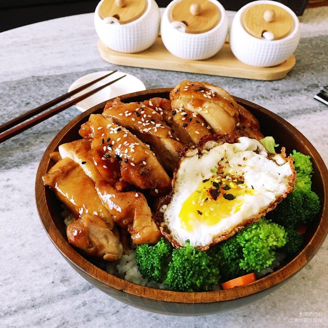 ✨今日份的晚餐   超美味照烧鸡腿肉✨...