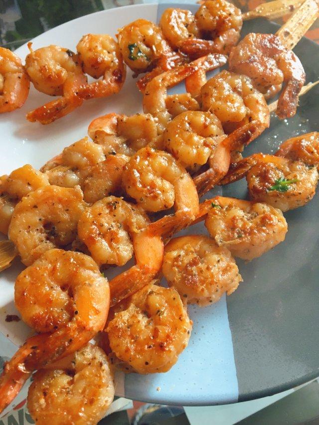 暖冬懒人厨房🔥香草🌿煎虾串🦐