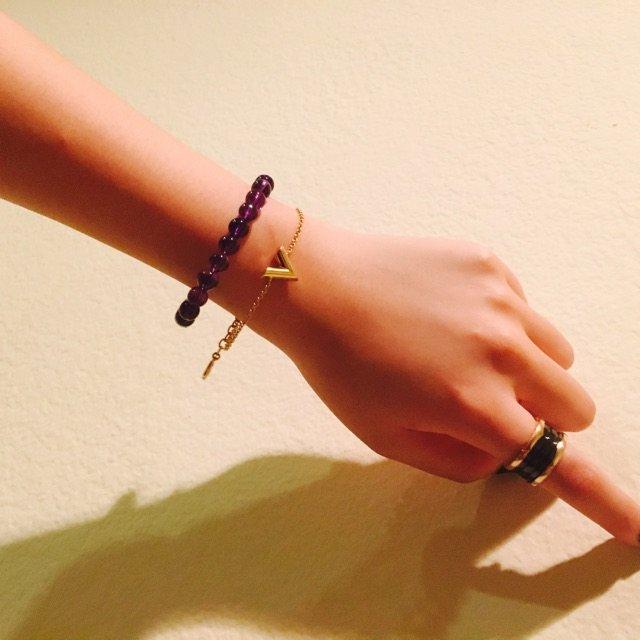 紫水晶和月光石~这种天然水晶只要体...