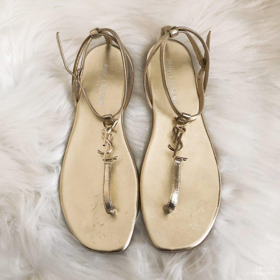 YSL $89 Logo凉鞋