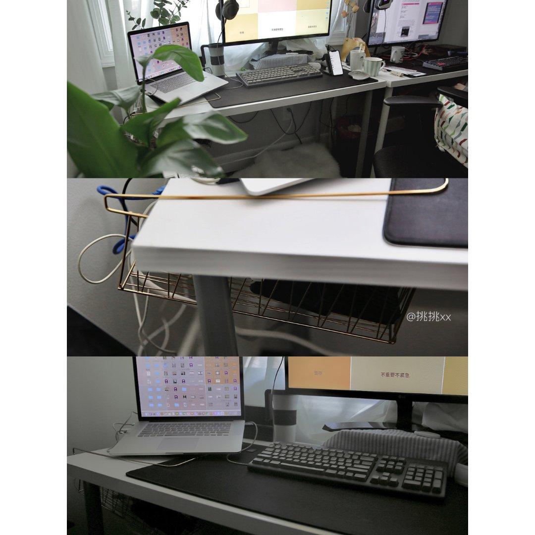 办公桌上乱糟糟的线该藏在哪里?