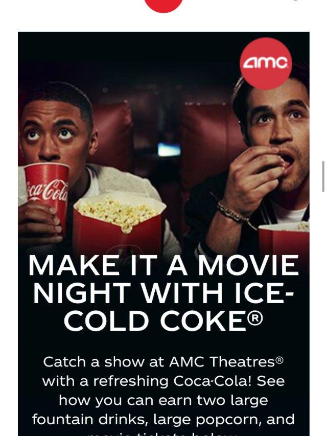 可口可乐Rewards免费看电影,...