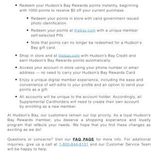 Hudson's Bay Rewards...
