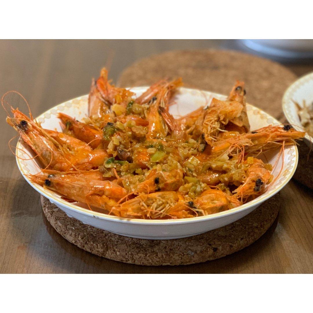 蒜蓉蒸虾🦐