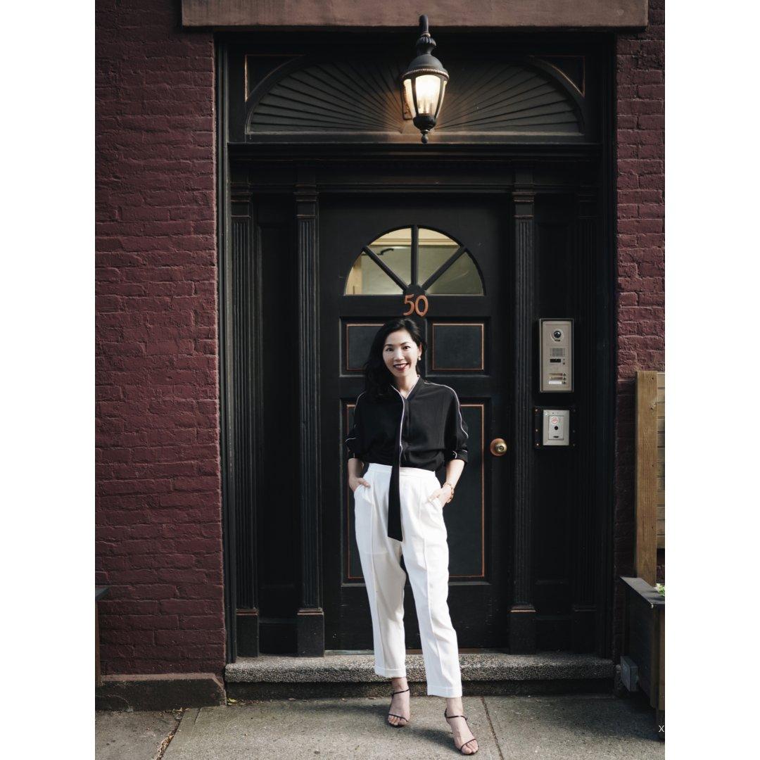 【小郑杰西卡】黑衬衣+白裤子