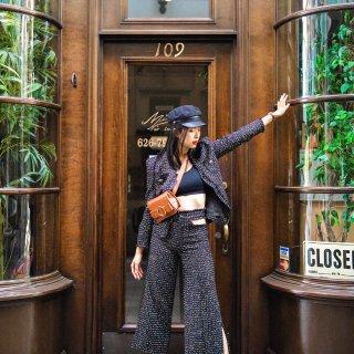 #昆娜穿搭#小如果要去纽约时装周,我选这套小香风