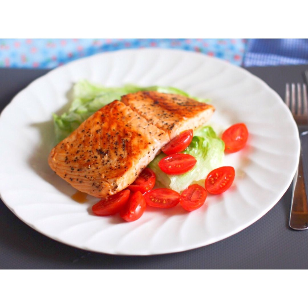 减肥与美味共存【香煎三文鱼】