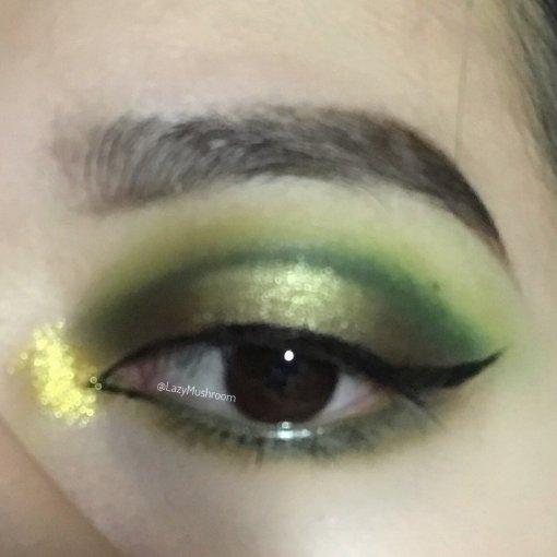 绿色眼妆初体验