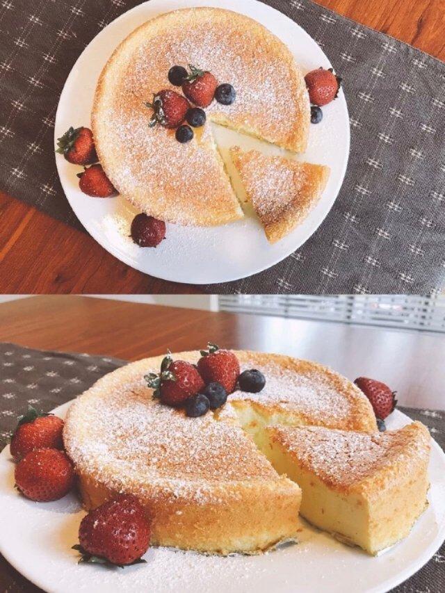自制日式轻乳酪蛋糕🍰