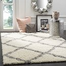 From $25.92 Safavieh Dallas Shag Collection SGD257F Ivory and Grey Area Rug