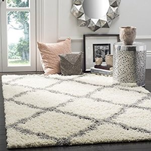 From $25.92Safavieh Dallas Shag Collection SGD257F Ivory and Grey Area Rug