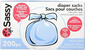 $7Sassy Disposable Diaper Sacks, 200 Count