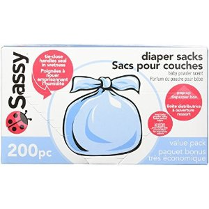 Sassy Disposable Diaper Sacks, 200 Count