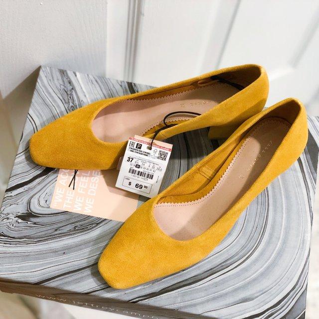 新鞋入柜 | zara黄色奶奶鞋
