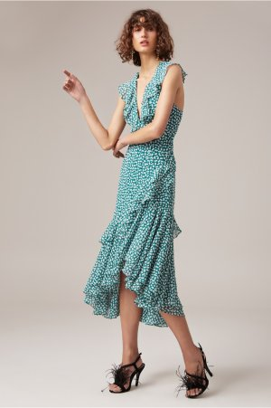 BE ABOUT YOU MIDI DRESS green daisy | C/MEO COLLECTIVE | BNKR