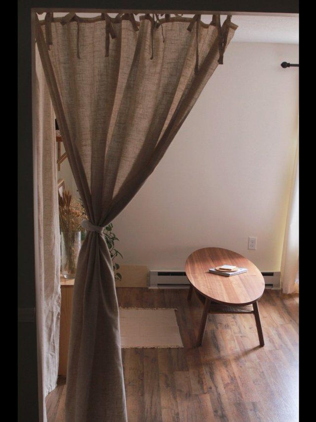 客厅Update|我今天把帘子挂好啦!