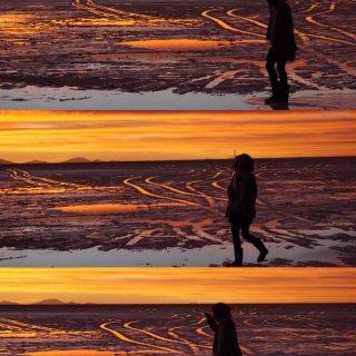 在乌尤尼看见过最美的日落...