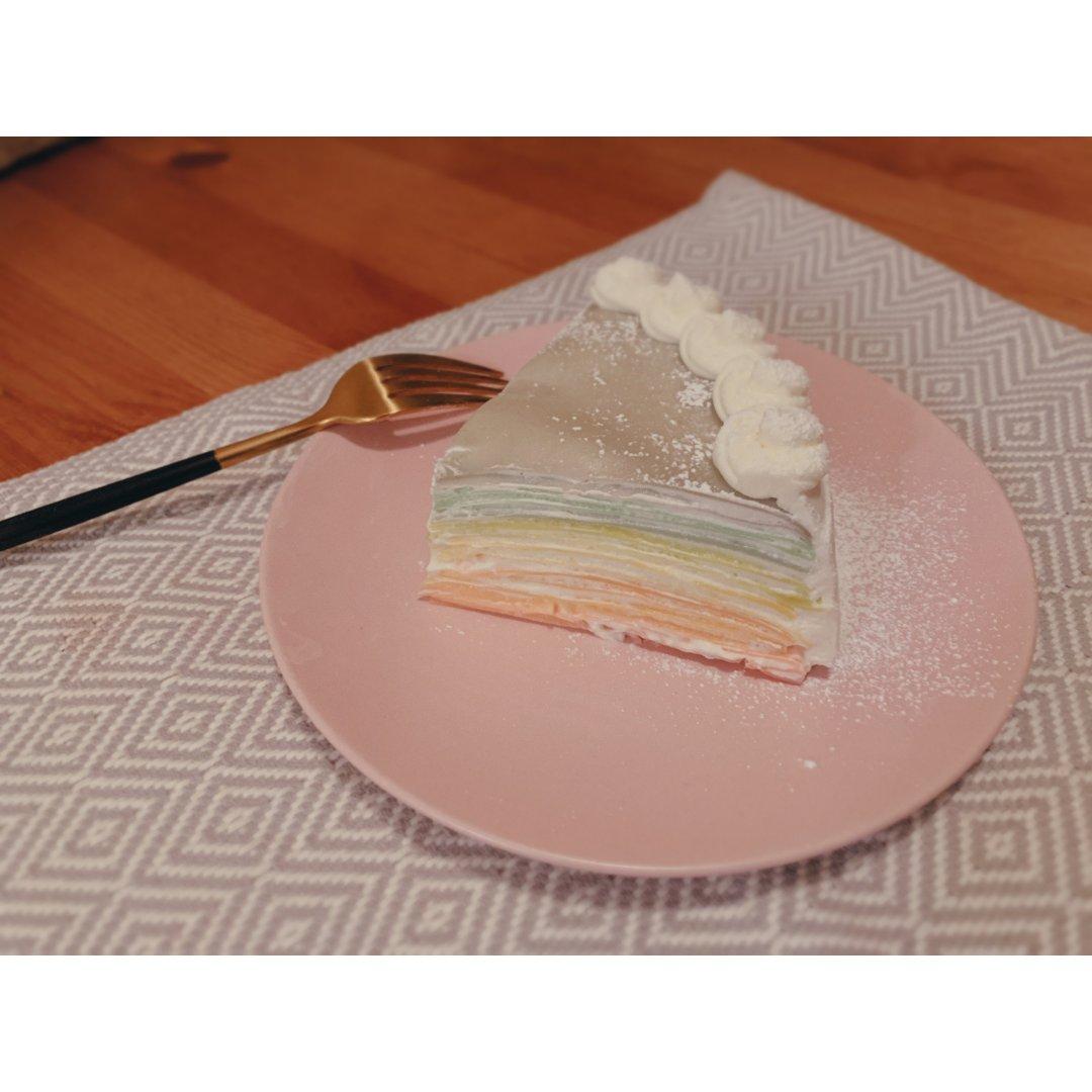 应景的彩虹🌈千层蛋糕