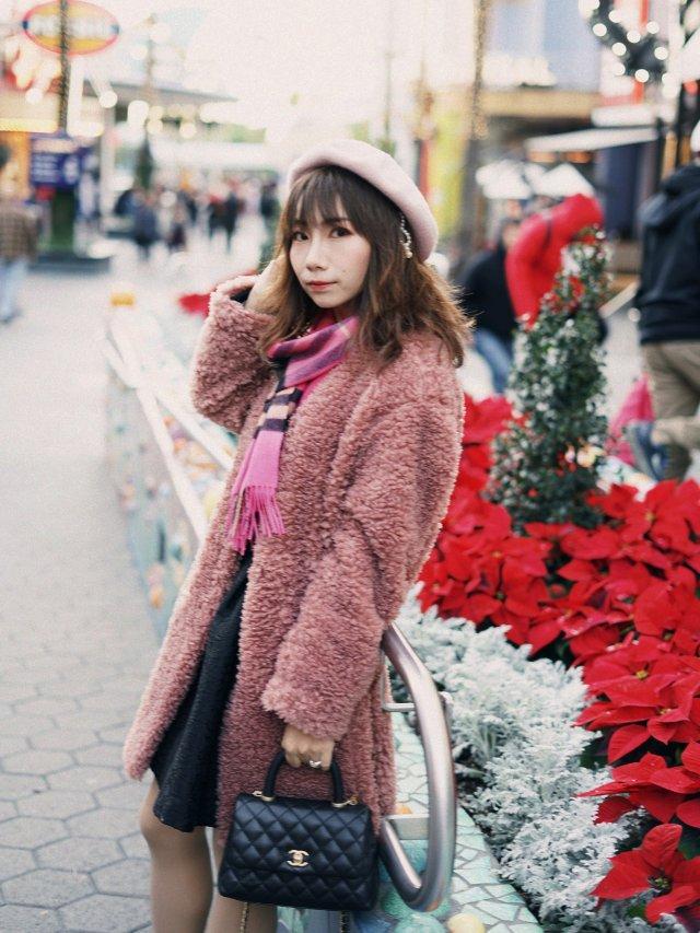 【冬日里的粉红泰迪熊】