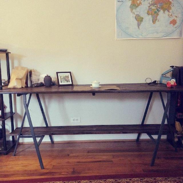 我做的桌子!谁说女人不能做木工!我...