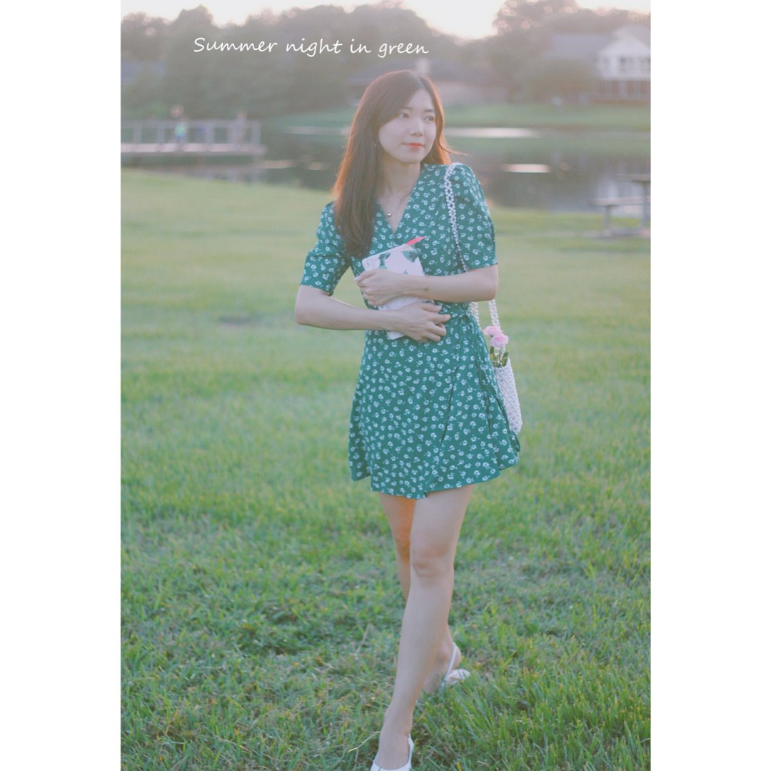 穿搭 | 熟透了的牛油果绿茶歇裙🥑🥑