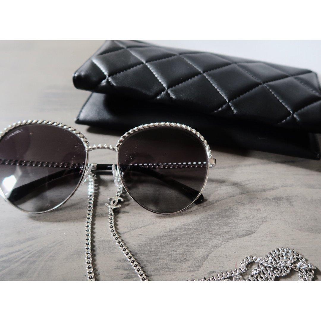 复古单品   Chanel链条墨镜