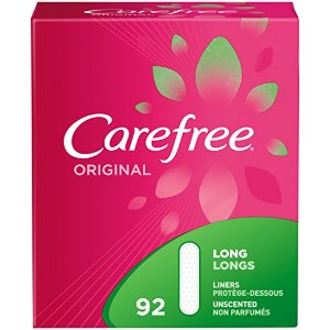 Carefree Original Thin Panty Liners, Long, Unscented - 92 Count