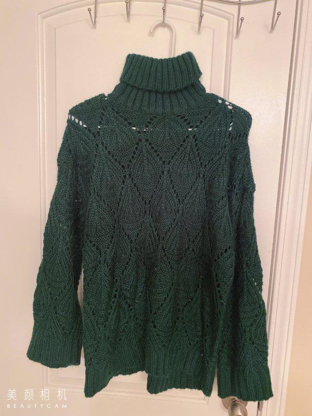 淘宝上买的这件高领毛衣,宽松版型的...