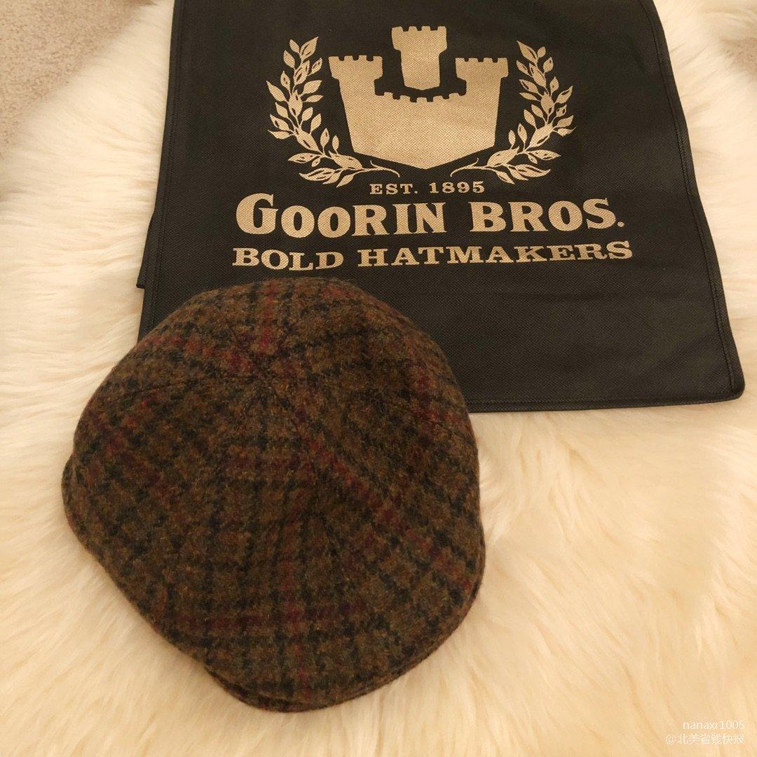 新奥尔良旅游时买的格纹报童帽<br...