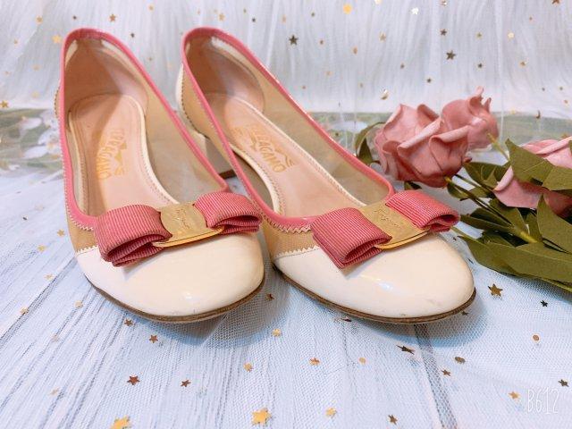 粉色之菲拉格慕鞋