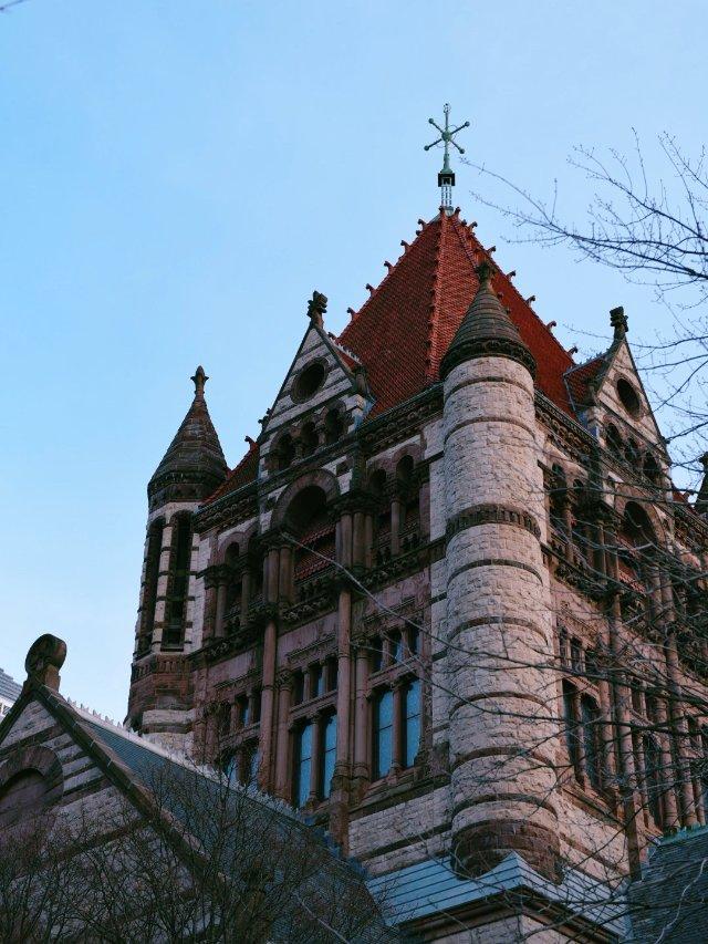 波士顿Trinity Church...