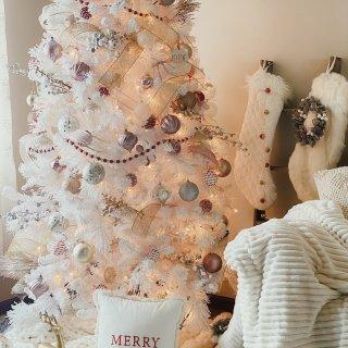 我家的圣诞树 |仙气飘飘的白色圣诞树...