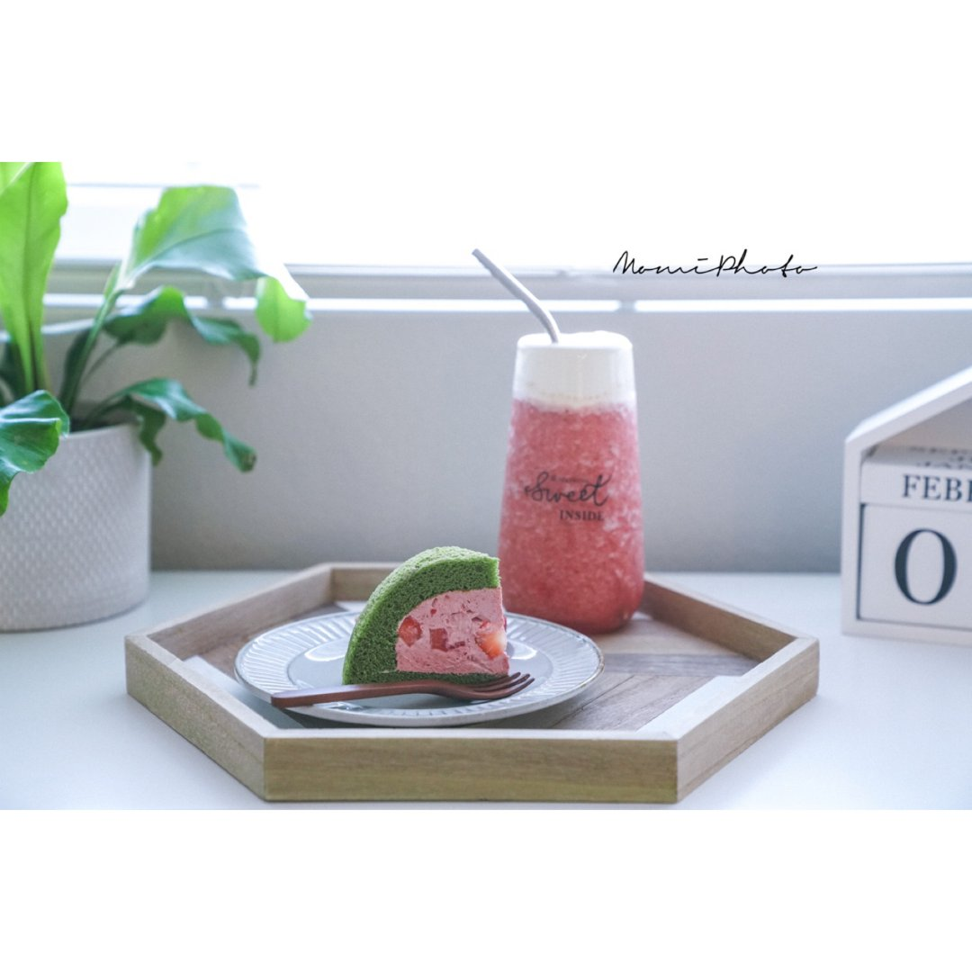 Get喜茶同款奶盖芝士莓莓搭配抹茶...
