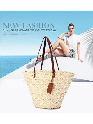 Hot Sale Women Summer Tote Shopping Handbag Beach Bag Straw Woven Shoulder Purse - Walmart.com