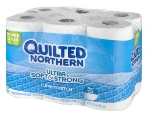 Buy 1 Get 1 FreeQuilted Northern Ultra Soft & Strong Bathroom Tissue Double Roll 2-Ply, 12 Count