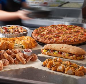 $7.99 eachDomino's Large 3-topping pizzas discount