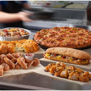 $7.99  更有小食$5.99Domino's 外带大号 3-topping 披萨优惠
