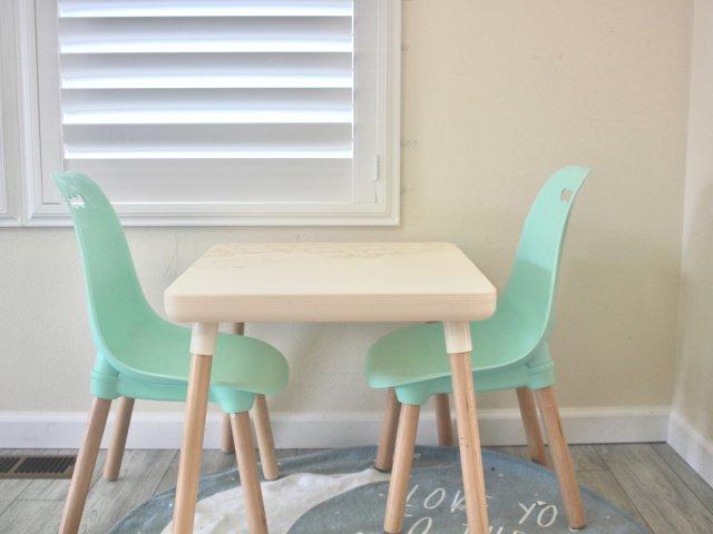 集小清新与实用于一身的儿童桌椅