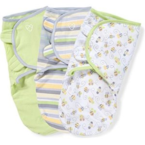 Amazon.com: Summer Infant 3 Pack SwaddleMe Adjustable Infant Wrap, Small, ABC Animals: Baby