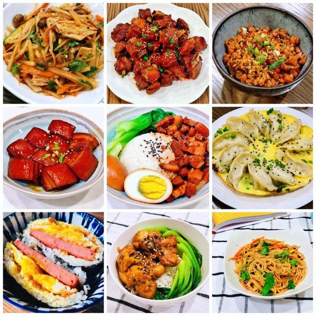 晚餐小饭桌之家常菜九宫格