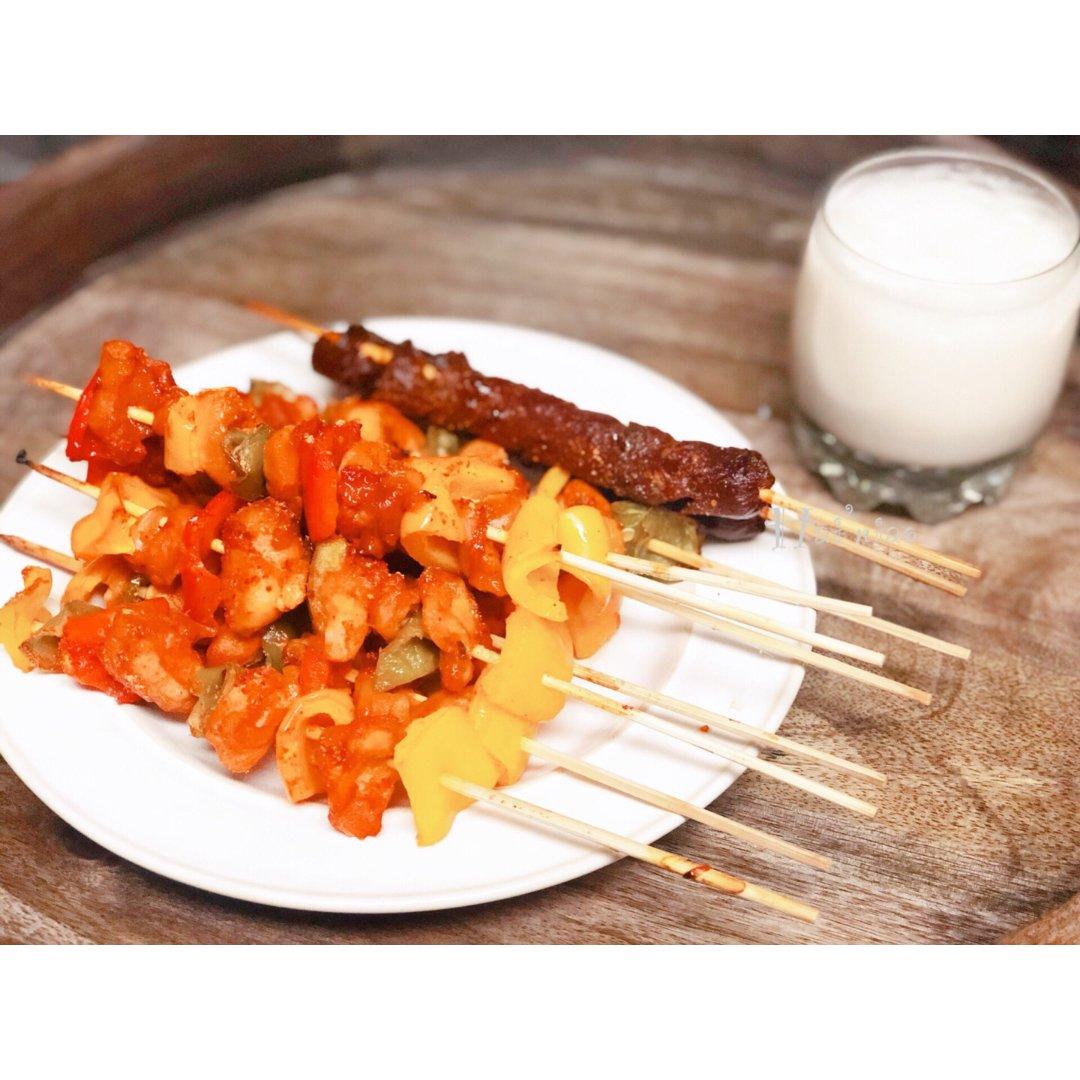 「食谱」蜜柚韩式辣烤鸡串
