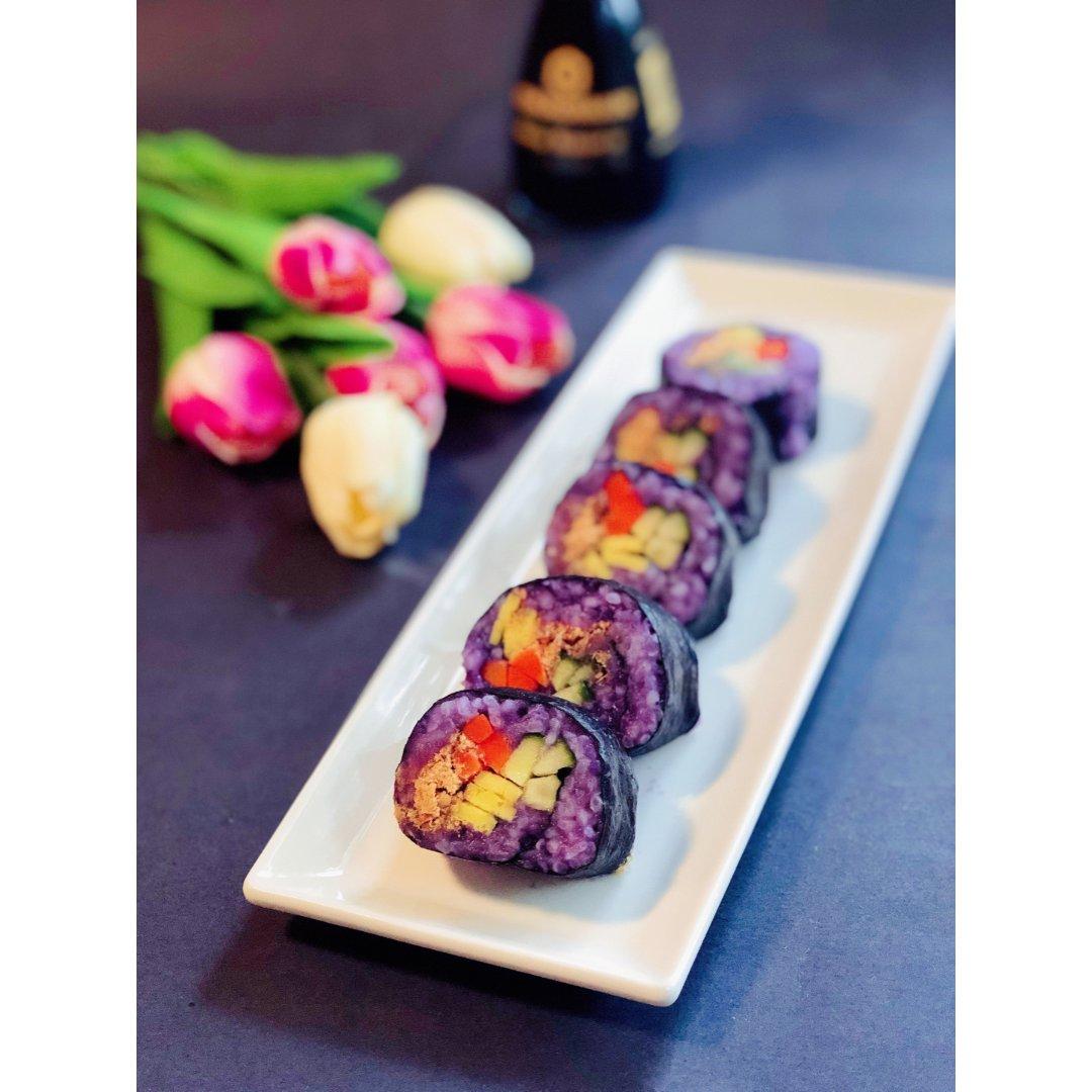 紫薯蔬菜寿司卷