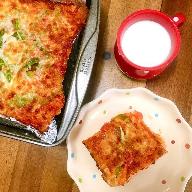 快手晚餐 十分钟进烤箱披萨🍕