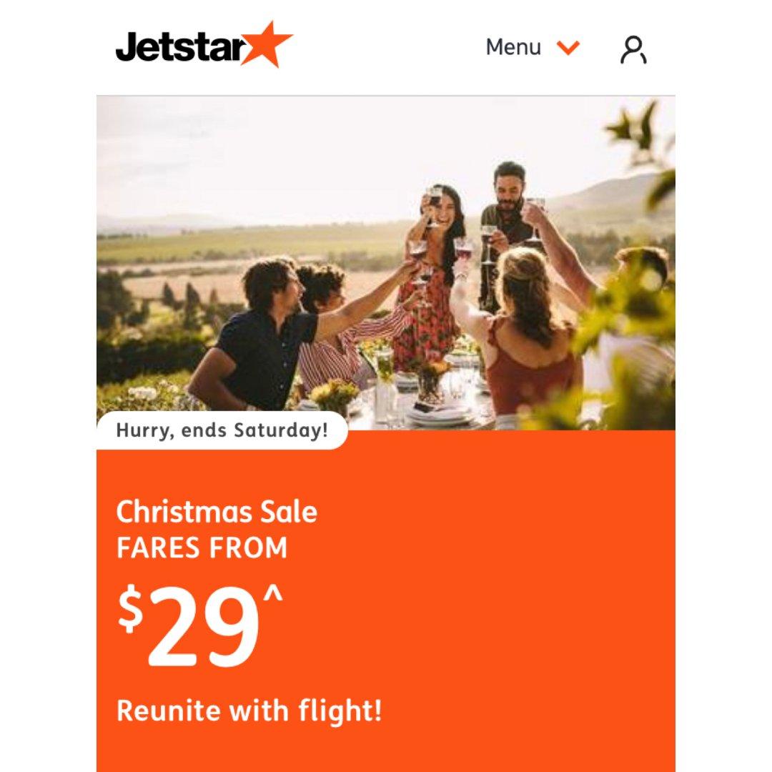 ✈️Jetstar澳洲国内机票 圣诞限时...