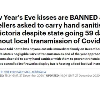 维州发布跨年新规:禁止与外人亲吻庆祝!附...