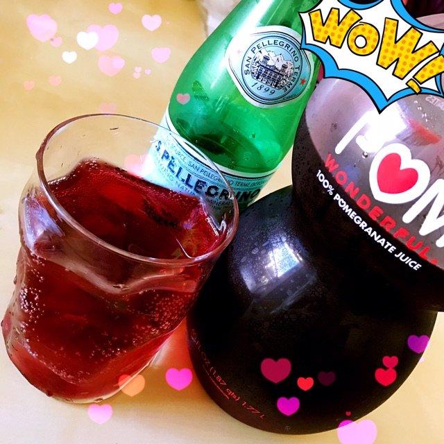 POM的石榴汁对我来讲有点甜,于是...