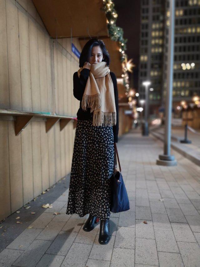 深夜穿搭分享 | 冬季吊带连衣裙穿法