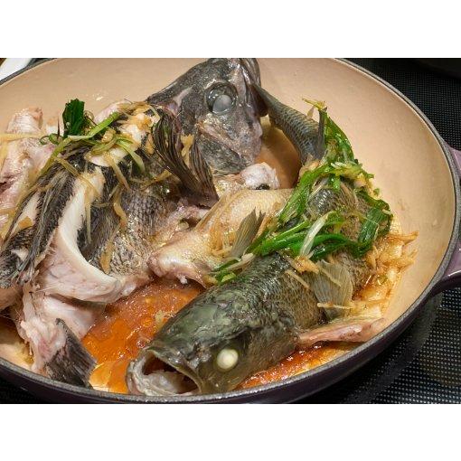Le Creuset海鲜锅 # 无水蒸活鱼