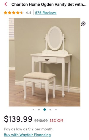 Astonishing Makeup Vanities Up To 50 Off Dealmoon Gmtry Best Dining Table And Chair Ideas Images Gmtryco