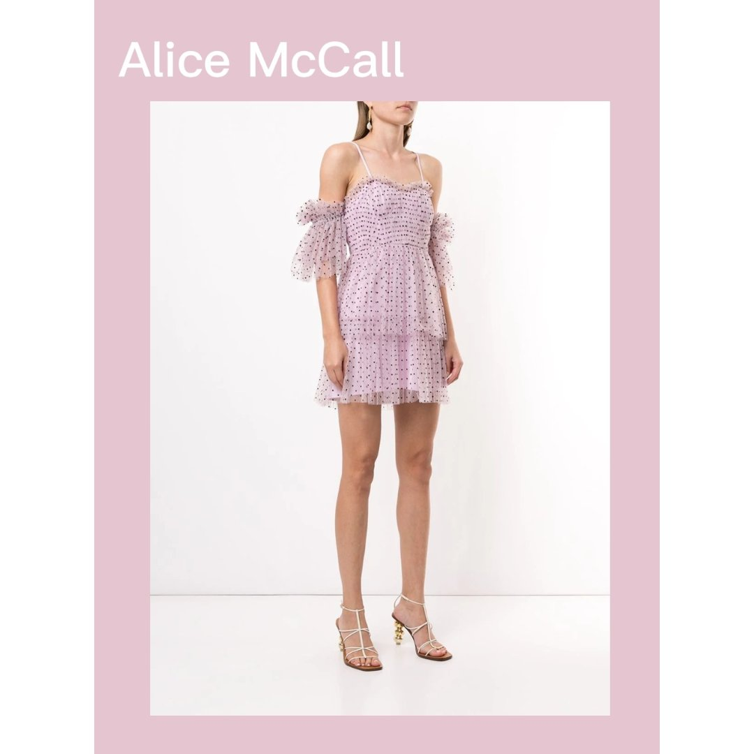Alice McCall,Surrender 波点迷你连衣裙